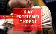 6 Ay Ertelemeli Kredi Veren Bankalar